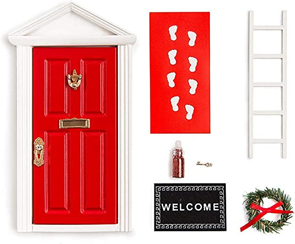 The Red Miniature Tiny Wooden Tooth Fairy Door Birthday Gifts For 3 4 5 6 7 Year Old Girls Boys Fairy Doors And Accessories Fairy Tale Idea Craft Activities For Kids Present
