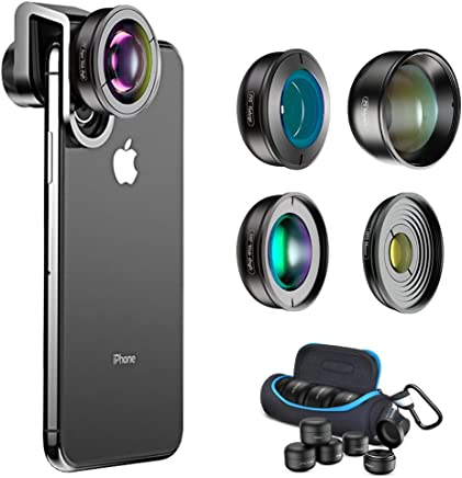 fbffa820e5b04e Aokin Phone Camera Lens Kit,5 in 1 Professional DSLR Phone Lens 170° Super