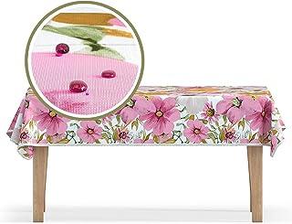 Studio Texstyle Linge de Table antitache et hydrophobe en « Fleurs printanières ». Nappe Luxueuse pour l'intérieur et l'ex...