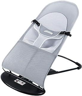 ベビーバウンサー 子供バウンサー バウンサー 新生児 1ヶ月-2歳 高さ調節可能 3点式シートベルトデザイン 取り外し可能なクッション 簡単な組み立て