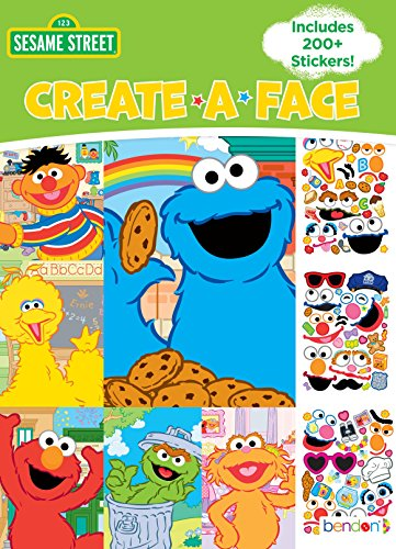 Bendon Sesame Street Create-A-Face Sticker Pad 43372