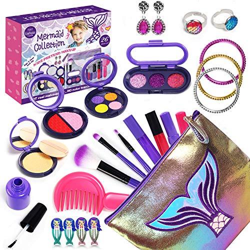 Lehoo Castle 26 Piezas Juguetes de maquillaje Set de Maquillaje Niñas, Bolso...