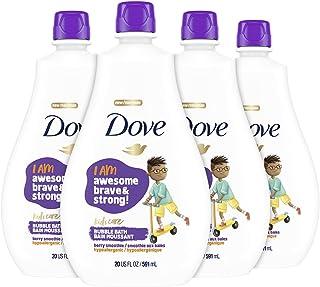Dove Bubble Bath For Kids Berry Smoothie Hypoallergenic formula 20 oz 4 Count