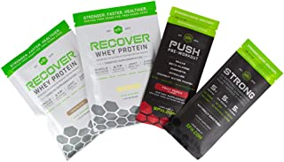 Recover Whey Protein Powder (Variety Pack) by SFH | Great Tasting 100% Grass Fed Whey for Post Workout | All Natural | No Soy, No Gluten, No RBST, No Artificial Flavors