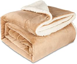 MAICICO Sherpa Fleece Blanket Twin Size Pink Plush Blanket Fuzzy Soft Blanket Microfiber Camel- Get Well Soon Gift for Women Men Patient