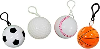 Disposable Raincoats in Sports Balls Pack of 4