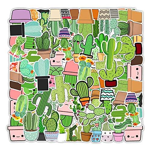 WYZDGTD 50 Piezas / 2 Juegos De Pegatinas De Graffiti De Cactus De Planta Verde Bonita Portátil Guitarra Equipaje Nevera Teléfono Pegatina De Oficina Calcomanía para Chico Juguete