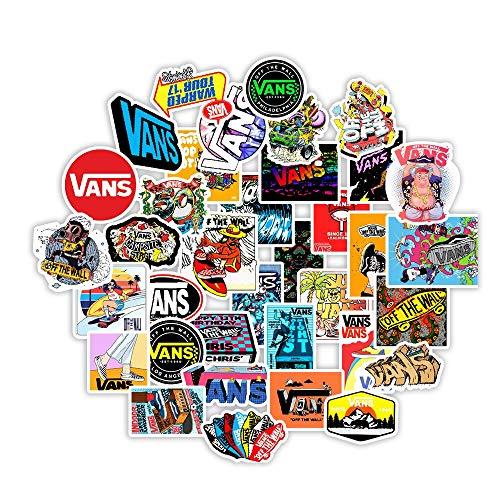 DUOYOU Pegatinas de dibujos animados blanco y negro de la calle para scrapbooking Laptop Guitarra, monopatín, maleta, graffiti etiqueta engomada 50 piezas