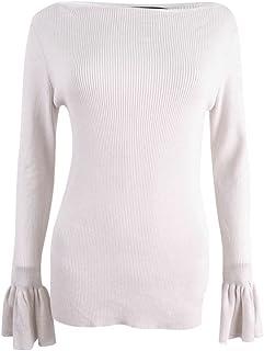 Ralph Lauren Lauren Womens Zakaria Bell Sleeves Boatneck Pullover Sweater