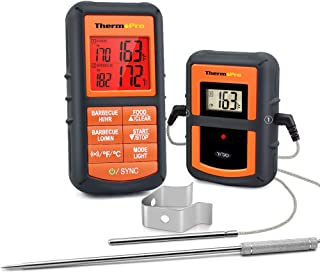 ThermoPro TP-08S Wireless Remote Digital Cooking Meat Thermometer Dual Probe for Grilling Smoker BBQ Food Thermometer - Monitors Food from 300 Feet Away