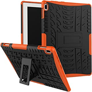 Case Lenovo Tab 4 10/Tab X304F 360° Full Body PC 2 in 1[with Tempered Glass Screen Protector] Shockproof Double Protection Phone Cover Protective Skin Case for Lenovo Tab 4 10/Tab X304F (Orange)