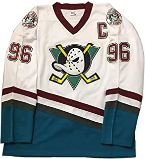 oldtimetown Mighty Ducks Movie Hockey Jersey 90S Hip Hop Adults Clothing for Party, Stitched Letters and Numbers