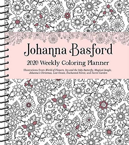 Johanna Basford 2020 Weekly Coloring Planner Calendar