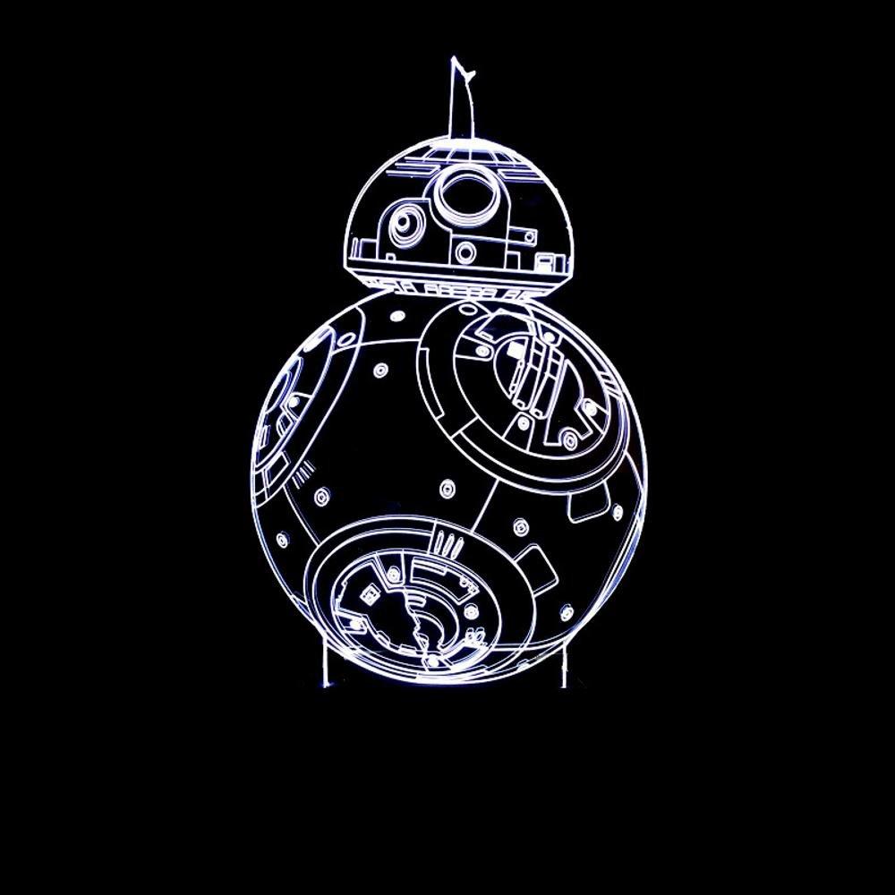 Wmshpeds Star Wars BB-8 Robot Acorazado Colorido se encienden Las ...