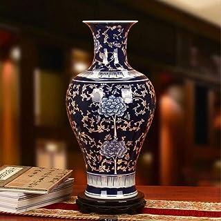 Different Characteristics Excellent Porcelain Jingdezhen Ceramics Flower Inserts Art Ceramic Large Vase (Color : C)