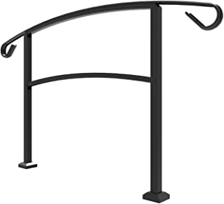 Railing Now - Midway Transitional Handrail (Black)