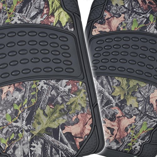BDK Camouflage 4 Piece All Weather Waterproof Rubber Car Floor Mats - Fit Most Car Truck SUV, Trimmable, Heavy Duty - MT-684-CM