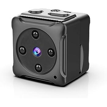 超小型スパイ隠しカメラ,ZZCP 1080P高画質長時間録画/録音監視カメラ 屋外/屋内用 赤外線 動体検知 電池式 ミニ防犯カメラ 配線不要