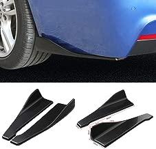 DTOUCH RACING Rear Bumper Lip Lower 48CM Black Corner Valance Covers Splitter Spoilers