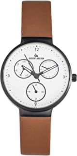 Louis Arden for Women Analog Leather Watch -LA5005L-BW-WHT-BLK