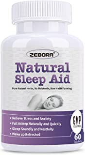 Sponsored Ad - Sleep Aid, Natural Herb Sleeping Pill for Adults -Stress, Insomnia, Anxiety Relief - Faster Absorption Diss...