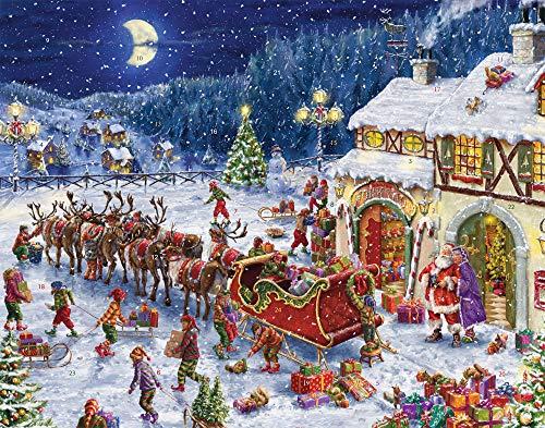 Calendario dell'Avvento con slitta di Babbo Natale (calendario del conto alla rovescia)