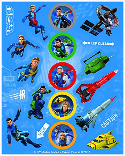 Thunderbirds Sticker Sheets, 4ct