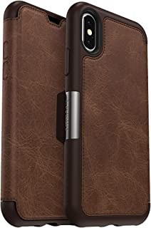 OtterBox STRADA SERIES Case for iPhone Xs & iPhone X - Frustration Free Packaging - ESPRESSO (DARK BROWN/WORN BROWN LEATHER)