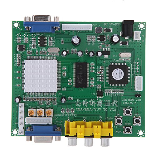 Gonbes High Speed Portabler Echt GBS8200 5 V Active Low 1 Channel Relay Module Board CGA/EGA/YUV/RGB auf VGA Arcade Game Video Converter für CRT-LCD-Monitor monitor PDP Monitor