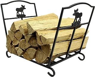 MyFirePlaceDirect Fireplace Log Rack Fire Wood Holder Wrought Iron Indoor Wood Storage Heavy Duty Log Rack Holder Firewood Carrier for Indoor/Outdoor