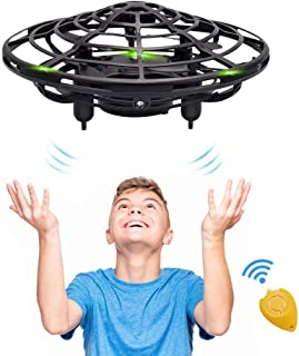 Hand Operated Kids Drone, CPSYUB Hands Free Mini Drone Helicopter for Kids, Flying Drone Kids Toys for 4, 5, 6, 7, 8, 9, 10, 11, 12 Year Old Boys or Girls Gifts (Black)