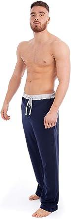 Style It Up Mens Lounge Pants Pyjama Pjs Bottom Jersey Cotton Rich Plain Nightwear Soft Warm