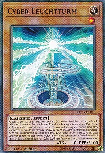 LED3-DE013 - Cyber-Leuchtturm - Rare - Yu-Gi-Oh - Deutsch 1. Auflage