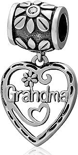 Breloque grand-mère en argent sterling 925 avec inscription « My Love » pour bracelet Pandora (B)