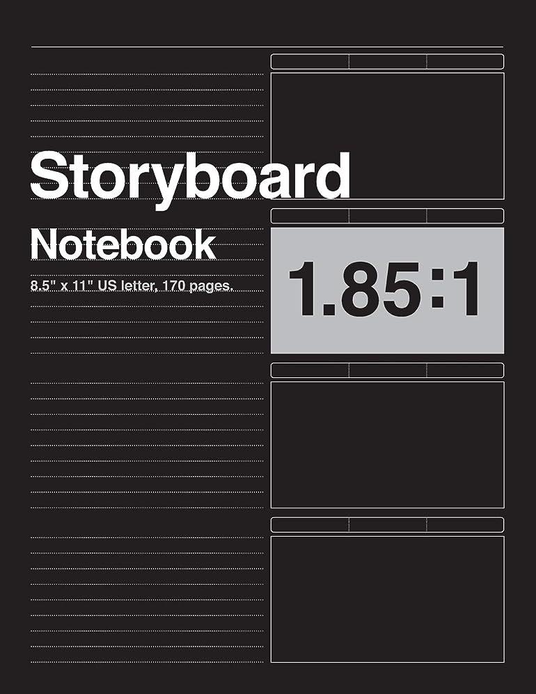 怖がって死ぬ科学的離れてStoryboard Notebook 1.85:1, 8.5