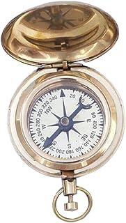 "Hampton Nautical CO-0903-BR Brass Ship Scout's Push Button Compass, 2"""