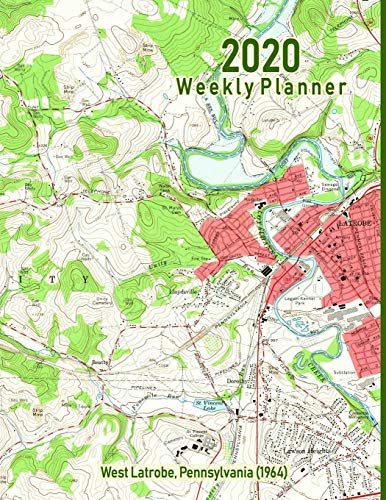 2020 Weekly Planner: West Latrobe, Pennsylvania (1964): Vintage Topo Map Cover