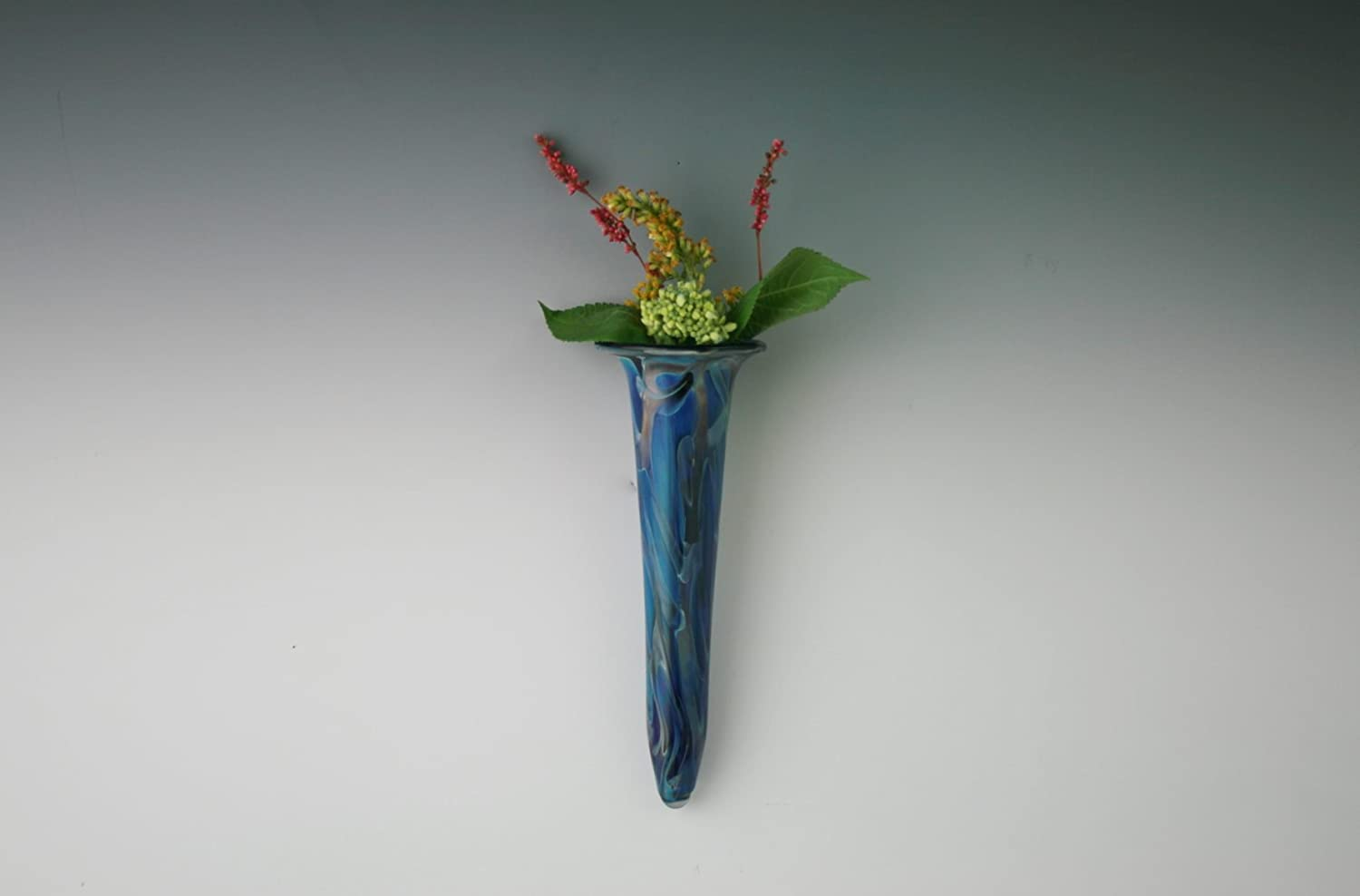 Financial 5% OFF sales sale Hand Blown Glass Wall Blue Vase