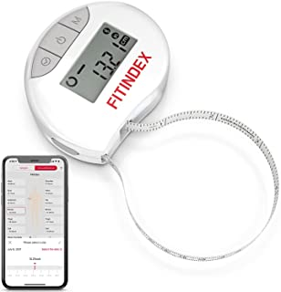 Smart Body Tape Measure, FITINDEX Bluetooth Digital Measuring Tape for Body, Soft Sewing Tape, with LED Monitor Display, L...