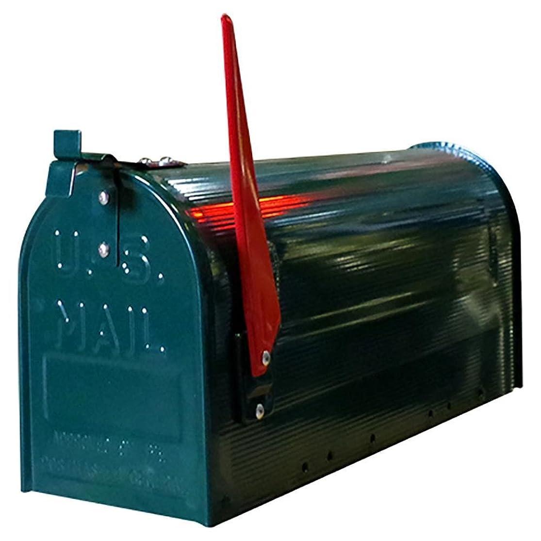日没穴淡いアメリカン ポストボックス 専用ポール付き スタンド メールボックス グリーン ポスト アメリカン雑貨