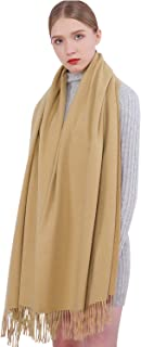 Women Cashmere Scarf Pashmina Shawls and Solid Color Winter More Thicker Warm Soft Scarves for Women