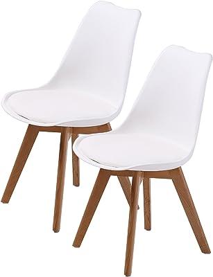 La Bella Replica Eames PU Padded Dining Chair - White X2