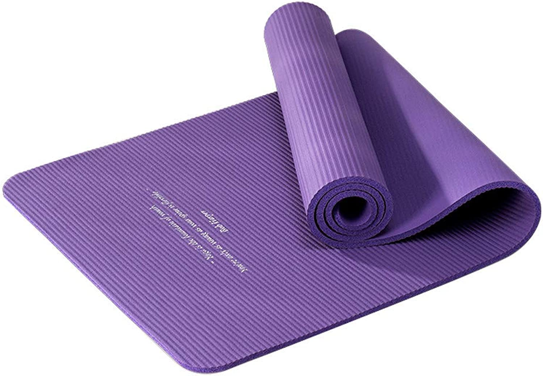 Wsjfc Anfnger-Yogamatte Verdickung Lange Erweiterung Rutschfeste Fitnessmatte geschmacklos Sportmatte Tanzmatte (Farbe   Lila)