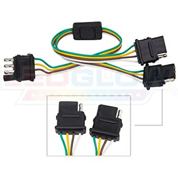 [DIAGRAM_1JK]  Amazon.com: LEDGlow Truck Flat 4 Pin Y-Splitter Adapter Trailer Harness -  Powers Both Tailgate LED Light Bars & Trailer Lights: Automotive | Four Wire Harness Adapter |  | Amazon.com
