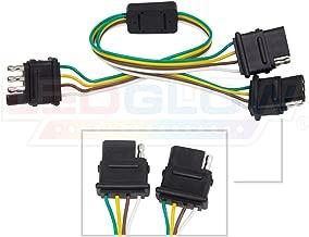 LEDGlow Truck Flat 4 Pin Y-Splitter Adapter Trailer Harness - Powers Both Tailgate LED Light Bars & Trailer Lights