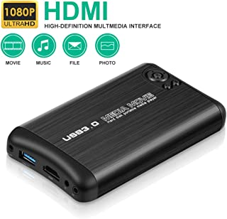HDMI Media Player,HAOSIHD 1080P Full-HD Ultra Digital Media Player Support HDMI/AV/VGA Output,Play Video and Photos with USB Drive/SD Cards/HDD/External Devices(Support USB 3.0)