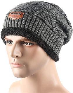 Crochet Skullies Bonnet Knitted Hats Plush Beanies for Men Women