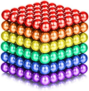 LiKee 5MM 216 Pieces Magnets Sculpture Building Blocks Toys for Intelligence Learning -Office Toy & Stress Relief for Adults(6 Color)