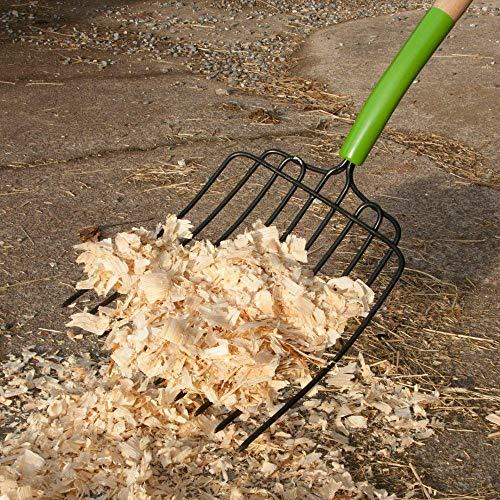 AMES 2826300 10-Tine Welded Steel Bedding Fork with Hardwood Handle, 61-Inch