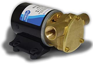 Jabsco 18660 Series Marine Water Puppy Bilge/Sump Flexible Impeller Pump 6.3 GPM, 12-Volt, 15-Amp Non-CE, 1/2